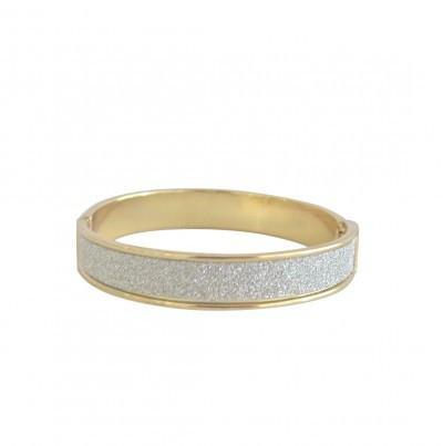 Add Hoc Girls Sparkle Bangle - Silver