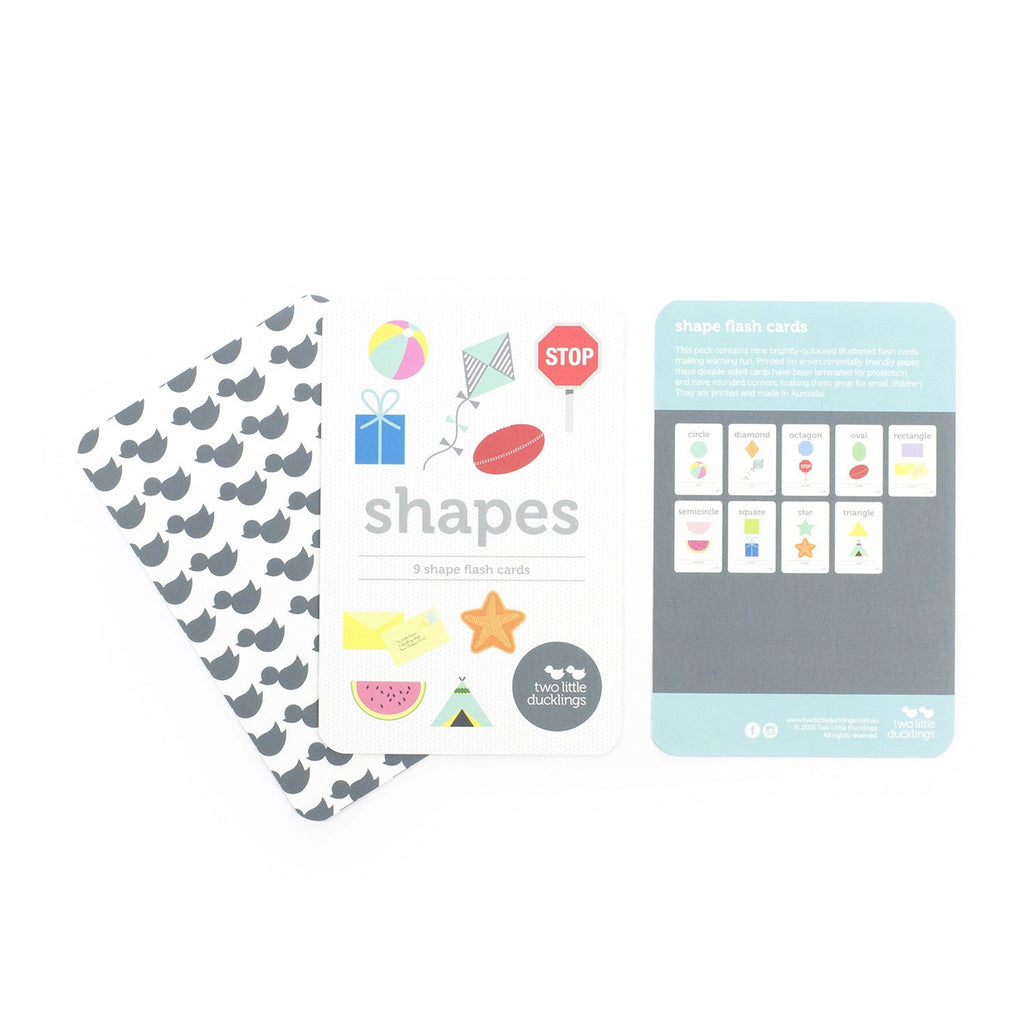 Two Little Ducklings Shapes Flashcards