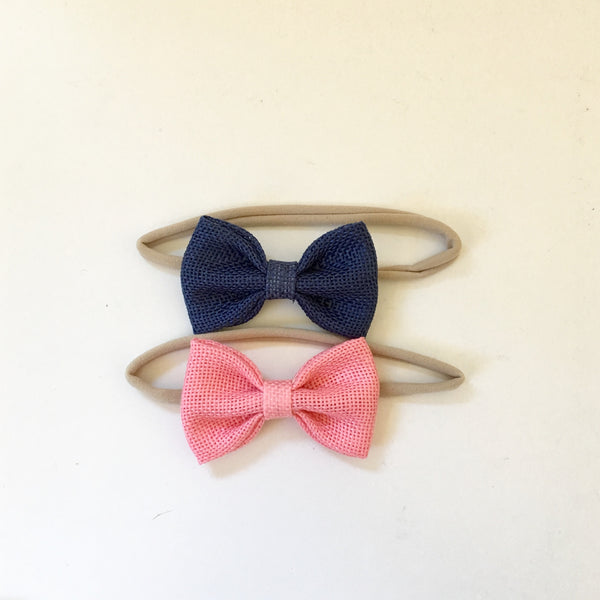 Headband Twin Pack - Pink & Navy