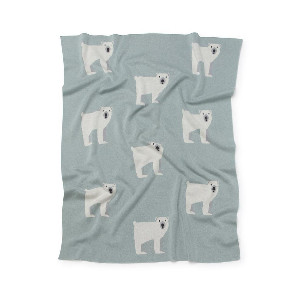 Kenzi Living - Mint Polar Bear Blanket