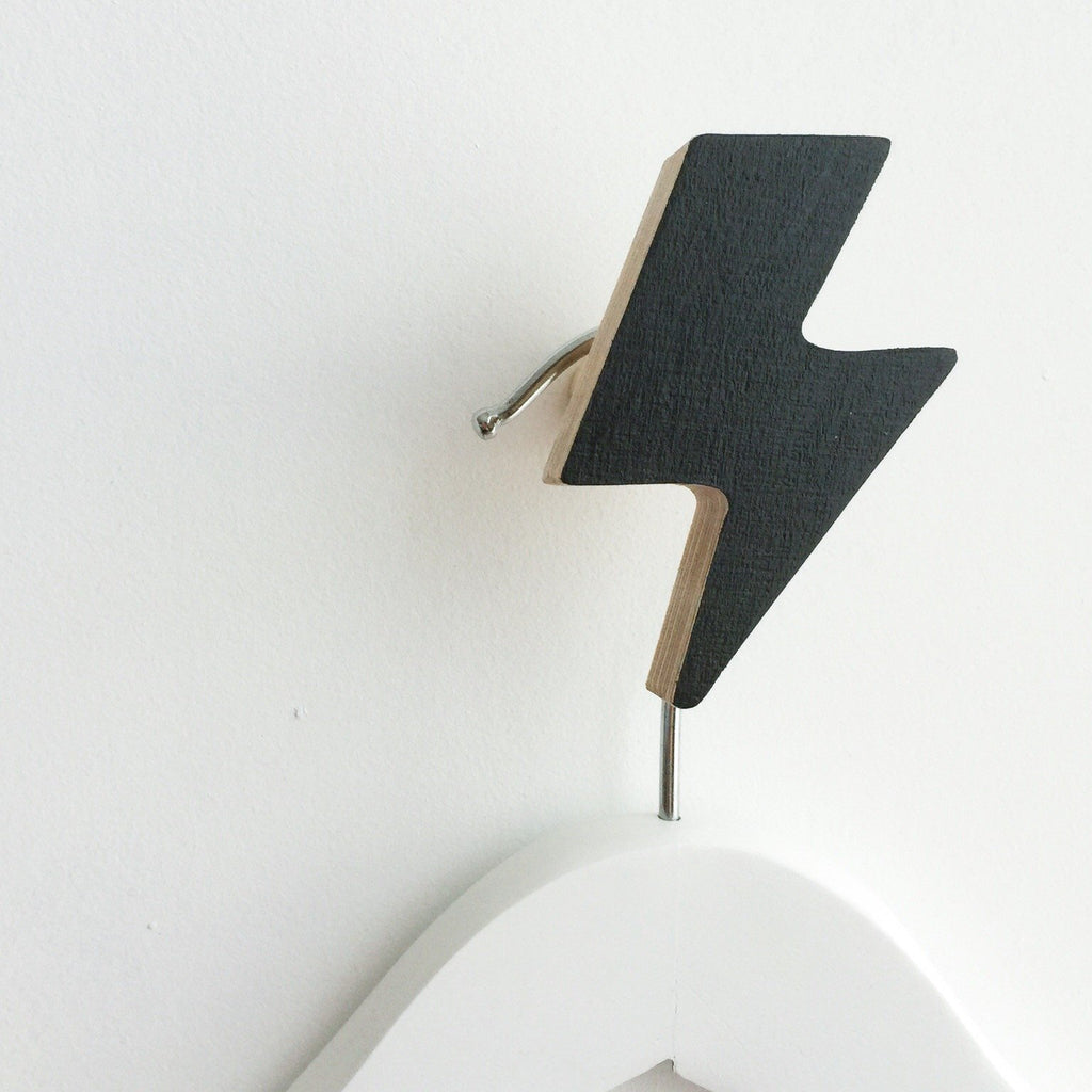 Knobbly Wall Hook Lightening Black