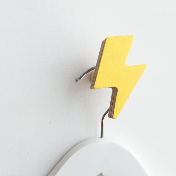 Knobbly Wall Hook Lightening Yellow