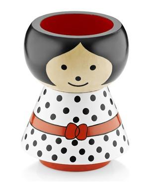 Lucie Kaas Pencil Holder - Girl in Spots
