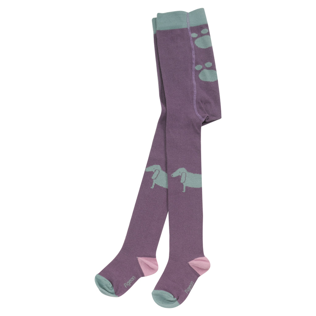 Pigeon Organics Tights - Dog Plum