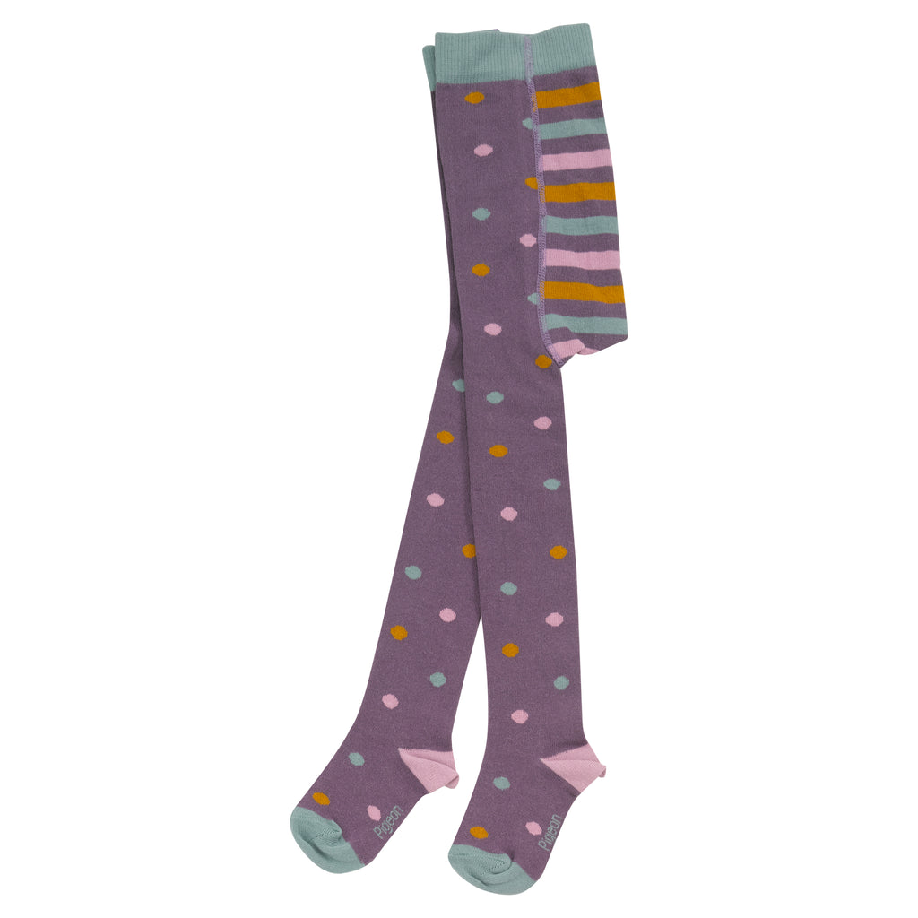 Pigeon Organics Tights - Dotty Plum