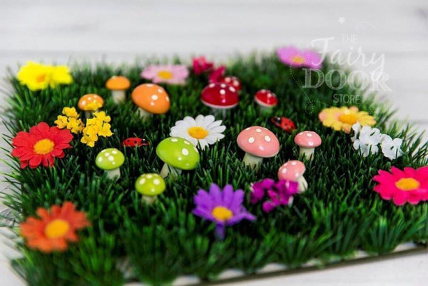 The Fairy Door Store - Fairy Grass with Flowers