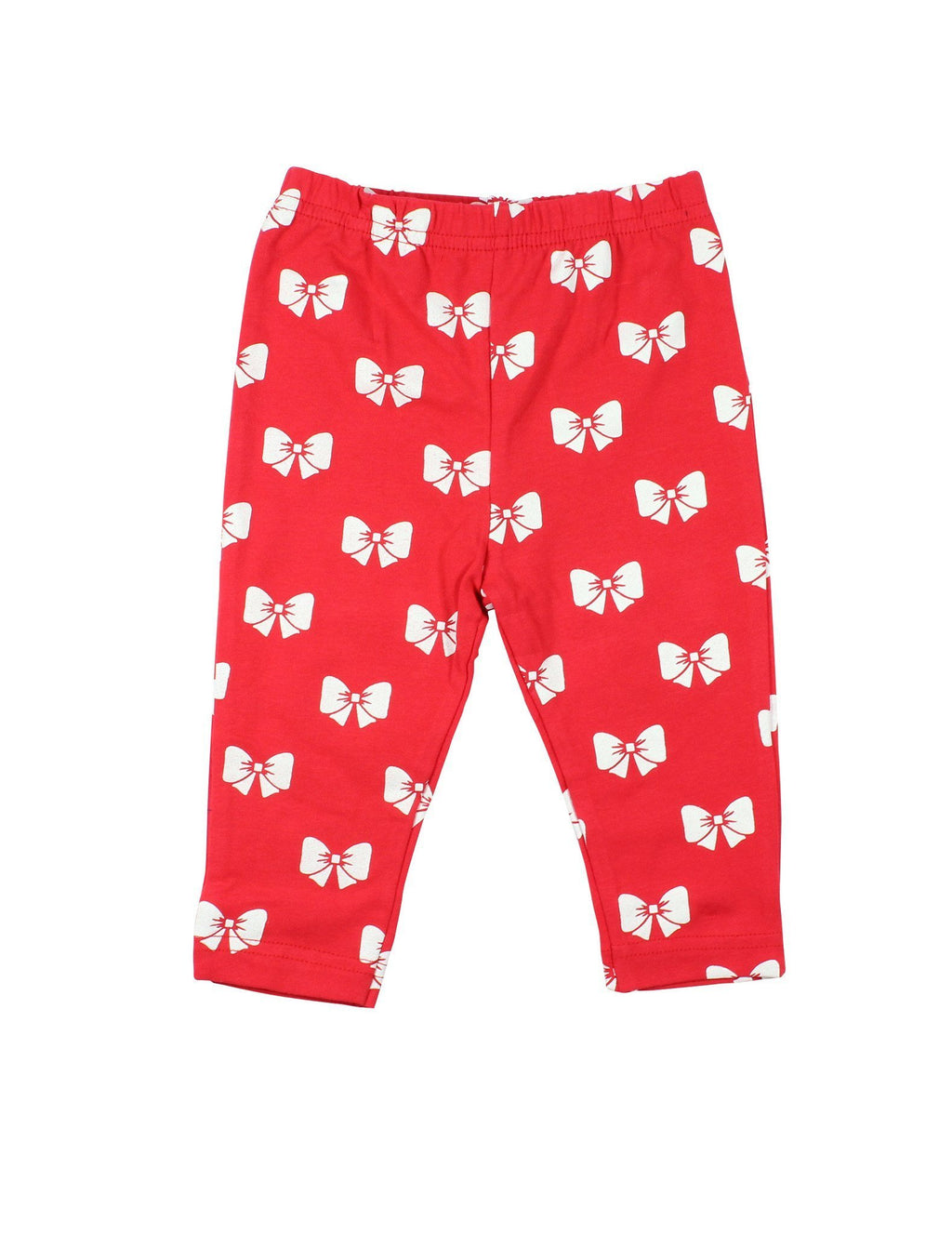 Papoose AW16 Little Girls Bow Leggings - Red