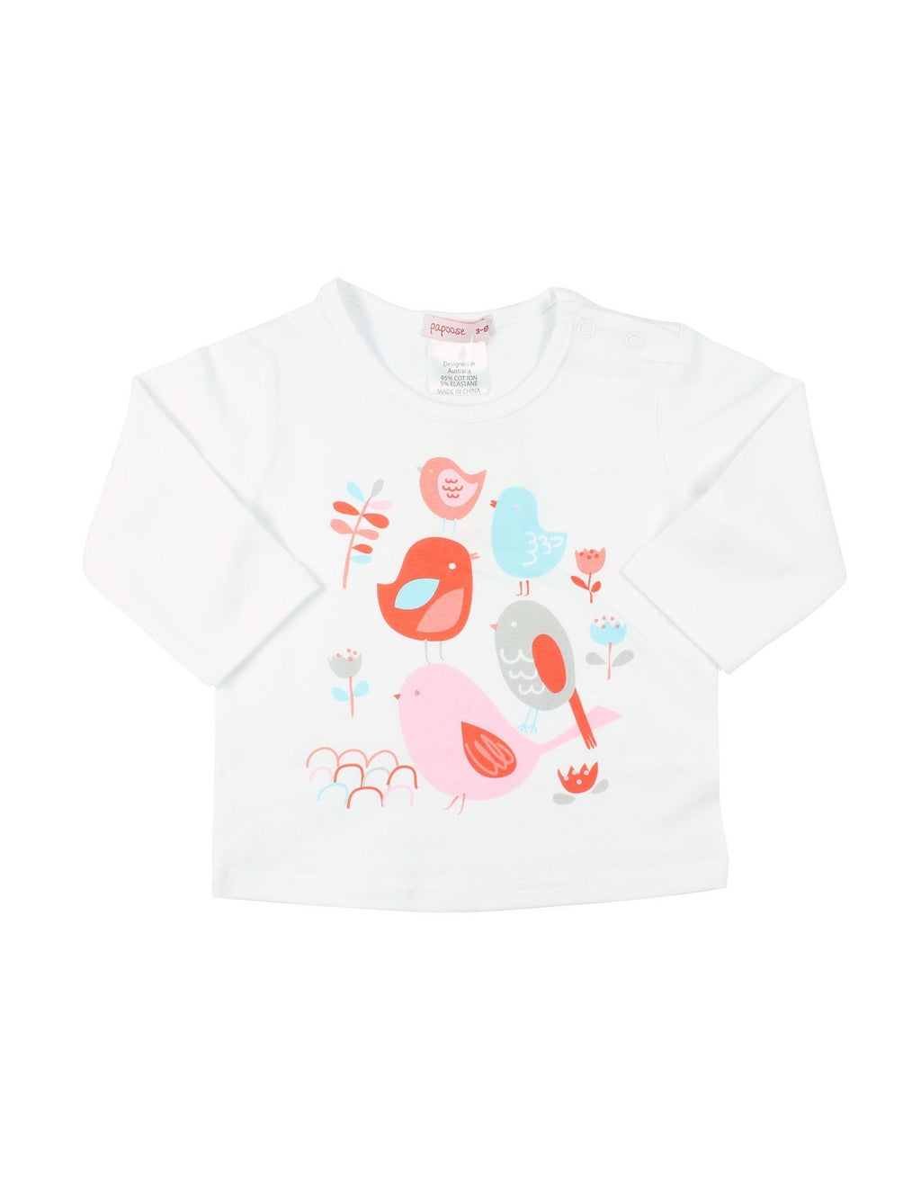 Papoose AW16 Little Girls Birdie Top - White