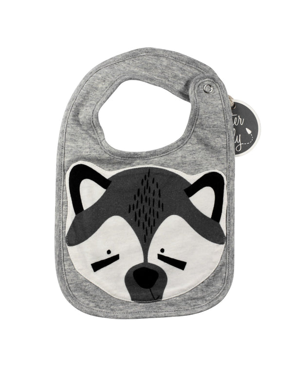 Mister Fly Face Bib Raccoon