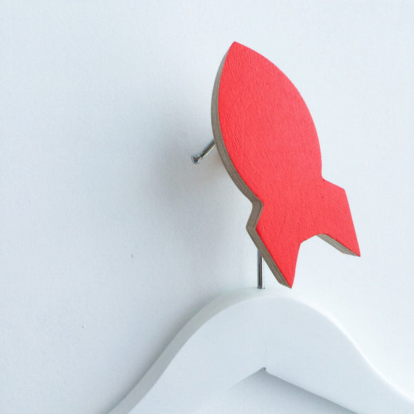 Knobbly Wall Hook Rocket Red