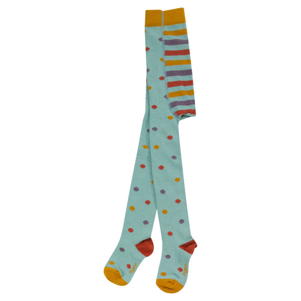 Pigeon Organics Tights - Dotty Duck Egg Blue