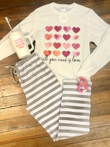 Grey Stripe Super Soft PJ Pants