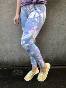 Palette abstract high waisted leggings