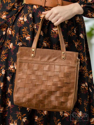 Square One Leather Bag