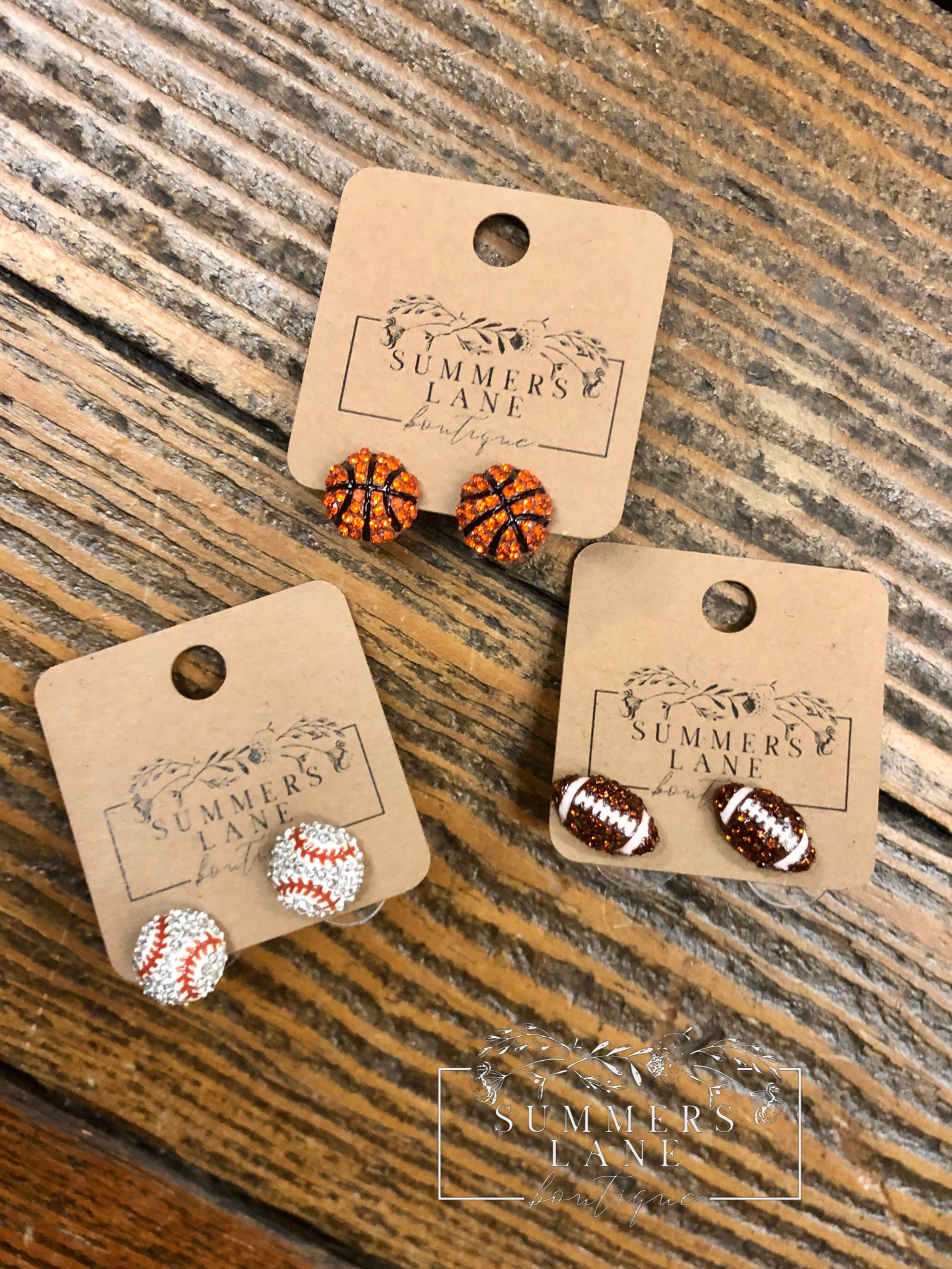 Sports Earrings with Bling