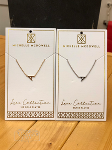 Gold and Silver Luxe Initial Necklaces