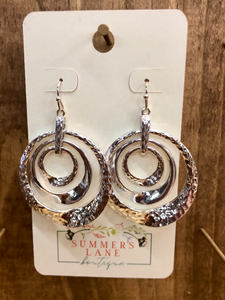 Silver hammered Circles