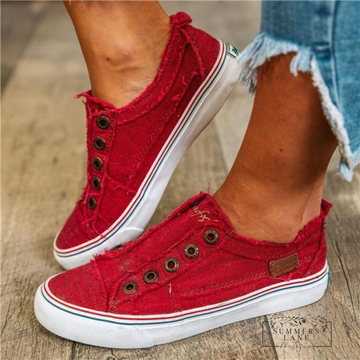Red hipster smoked twill (play)