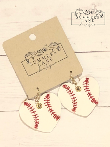 We Love Baseball Earrings