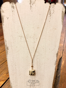 Dalmatian Square Necklace