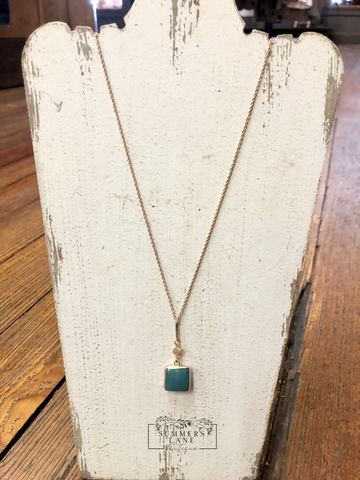Turquoise Square Necklace