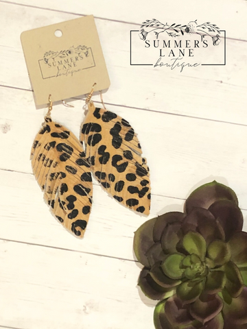 Cosima Leopard Fringe Earrings