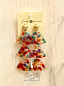 Confetti Fan Drop Earrings
