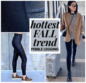 Pebble Faux Leather Leggings
