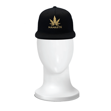 Namaste Cannabis hat, embroidered cannabis hat, unisex cannabis hat