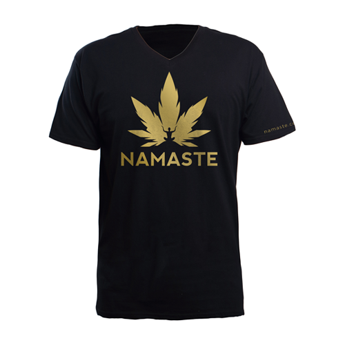 Namaste Shirt Black & Gold