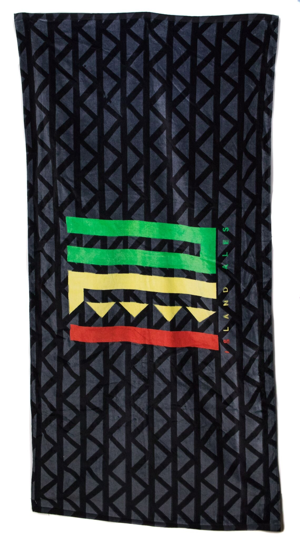 INU Beach Towel-Rasta