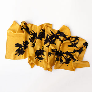 SAM Crow Screen Silk Scarf