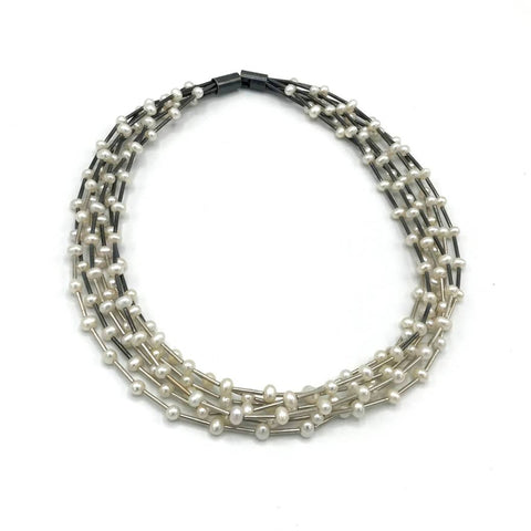 Seven Strand Pearl Necklace