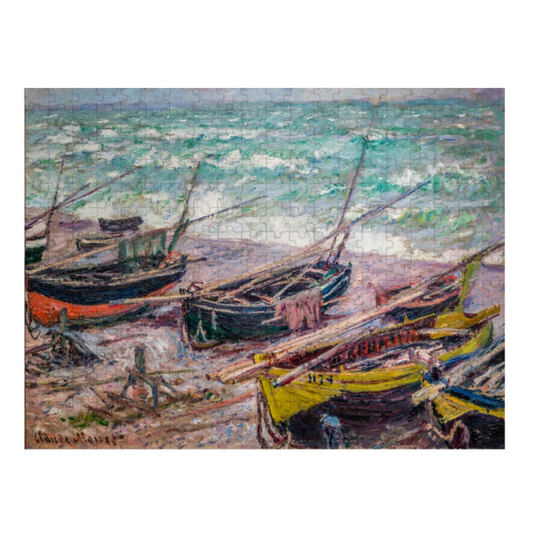 Fishing Boats at Étretat Puzzle