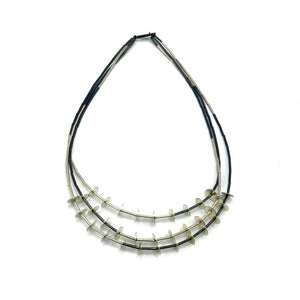 Triple Strand Disc Necklace