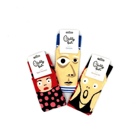 Chatty Feet Artist Themed Socks