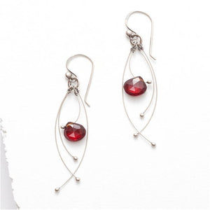 Red Garnet Tickle Earring