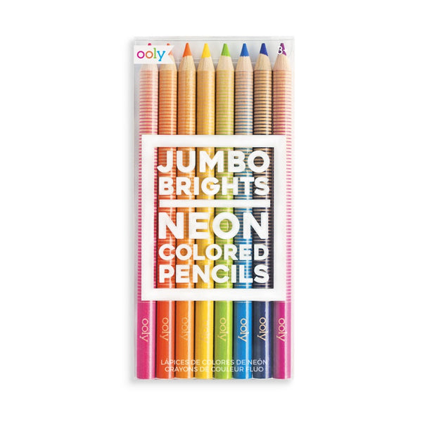 Neon Bright Chunky Pencil Set