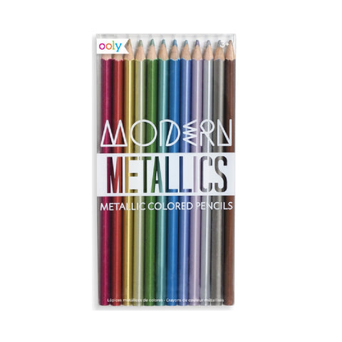 Modern Metallics Colored Pencil Set