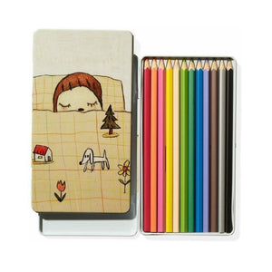 Yoshitomo Nara Colored Pencil Tin