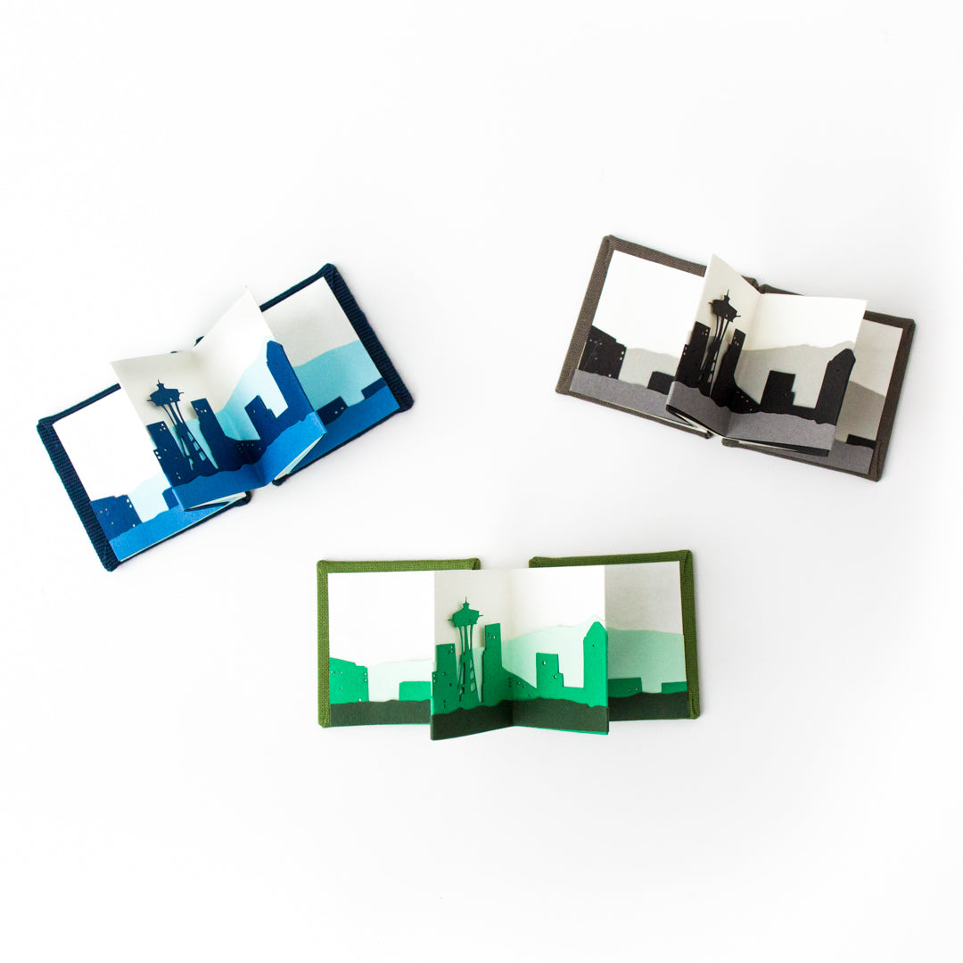 Mini Seattle Skyline Folding Book