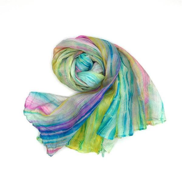 Lua Silk Watercolor Scarf