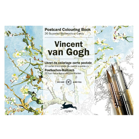 Van Gogh Watercolor Postcard Book