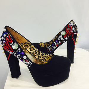 Rock Star bling platform shoes