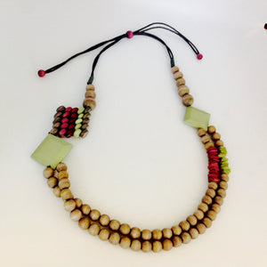 Summer  howlite bead necklaces