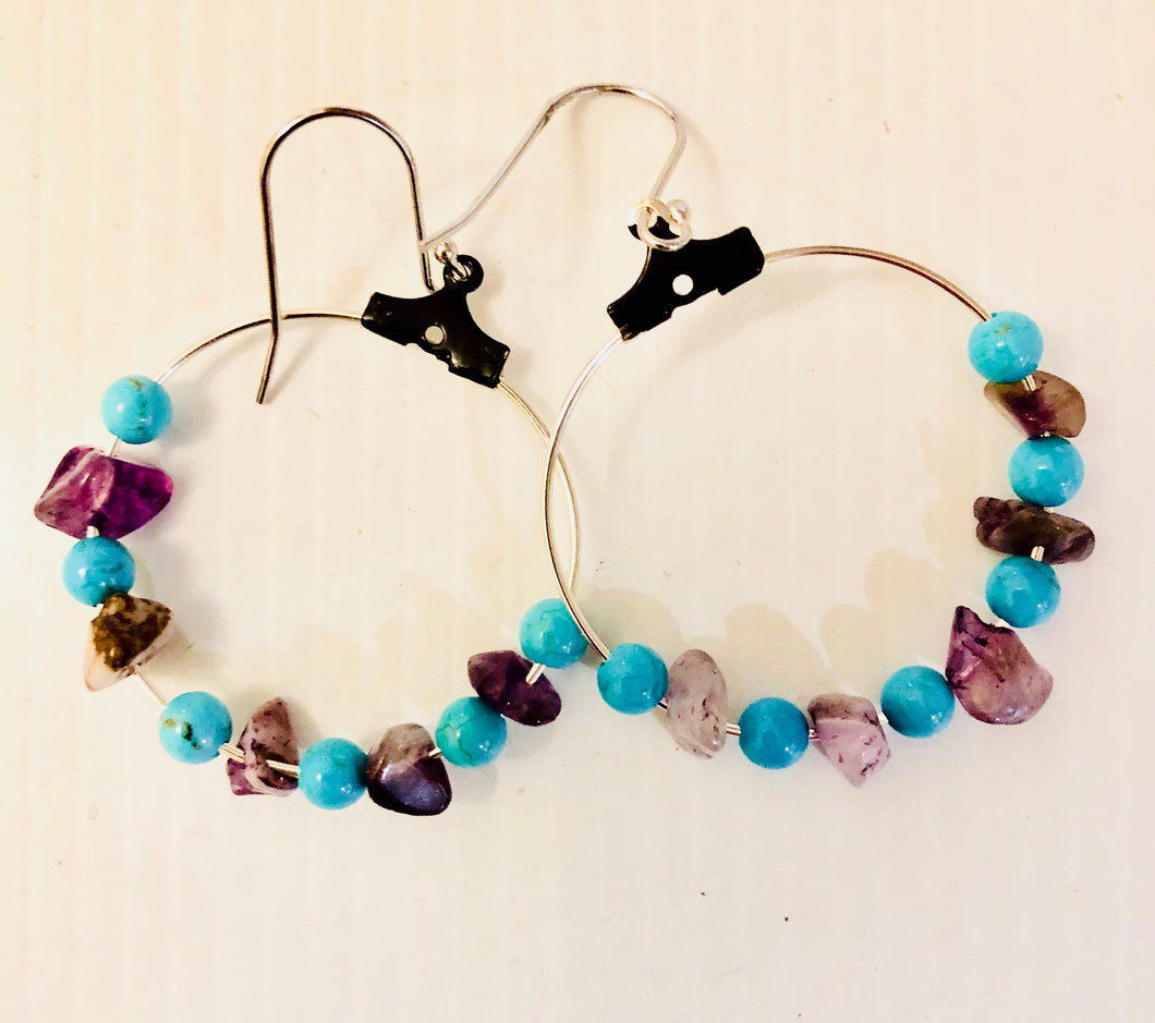 Hoop summer earrings