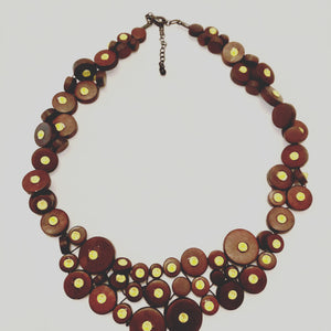 boho bead and crystal necklace