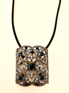Antique style bold pendant and broach