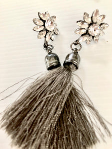 tassle bling earrings
