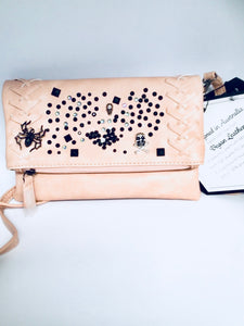 Spiders and skulls hand bag